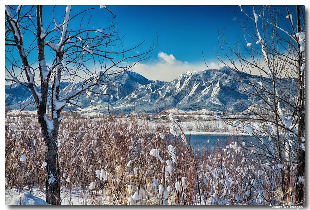 Boulder Colorado Snowy Scenic View