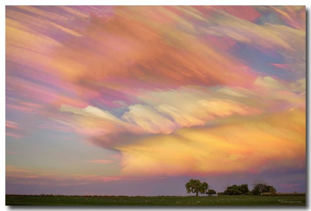 Pastel Painted Big Country Sky