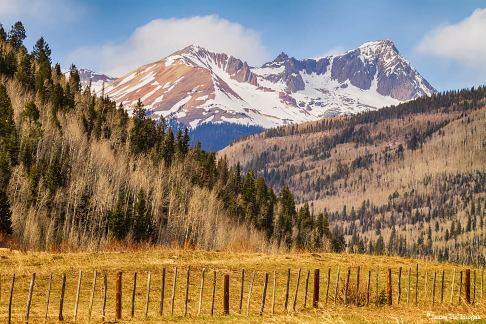 Colorado Valley Up The Mountain