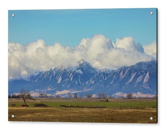 Boulder Colorado Front Range Cloud Pile On Acrylic Print