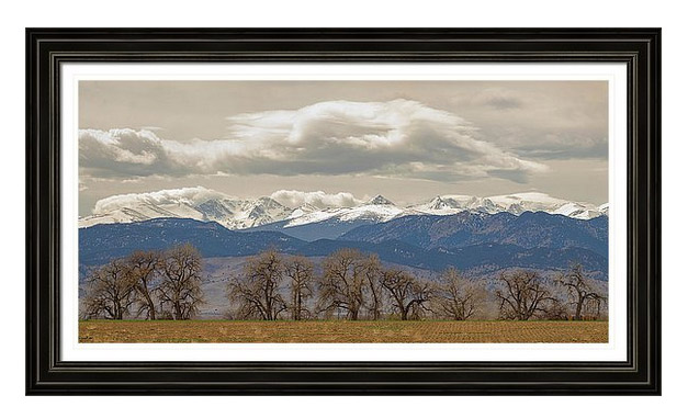 Rocky Mountain Peaks Cottonwood Trees View
