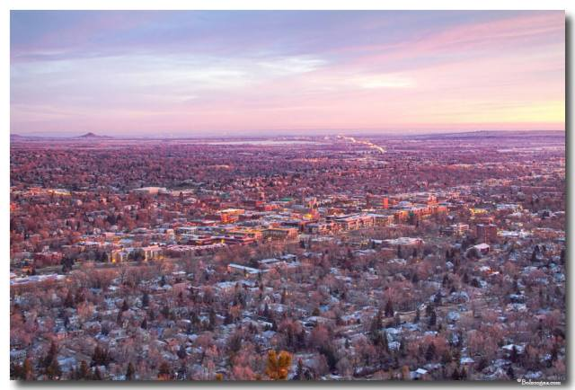Downtown Boulder Colorado Morning View Art