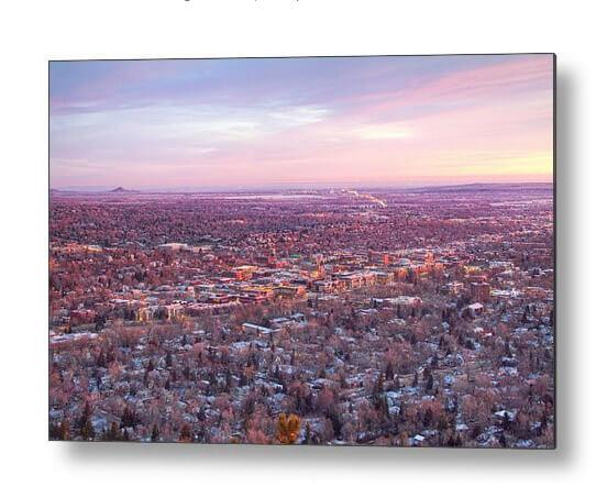 Beautiful Downtown Boulder Colorado Morning View