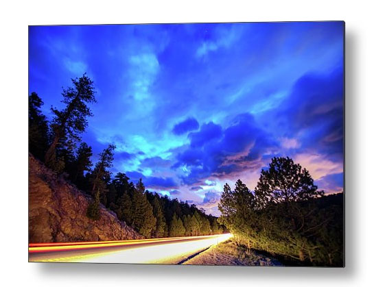 Highway 7 To Heaven Colorado Landscape Metal Print