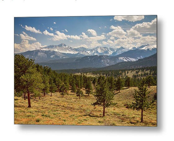 Rocky Mountain Afternoon High Metal Print