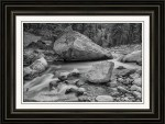 Soothing Colorado Monochrome Wilderness Framed Print
