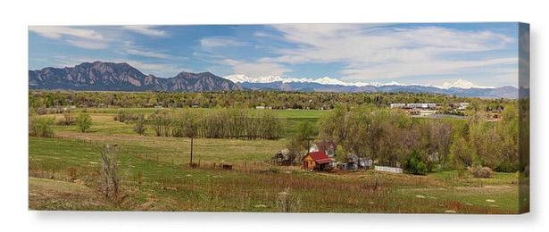 oulder Louisville Lafayette Colorado Front Range Panorama Canvas