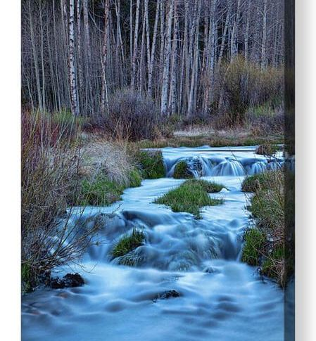 Blue Hour Streaming Acrylic Print