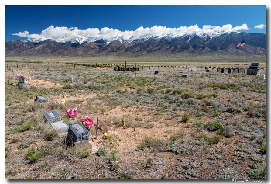 Old West Rocky Mountain Cemetery View Art Prints