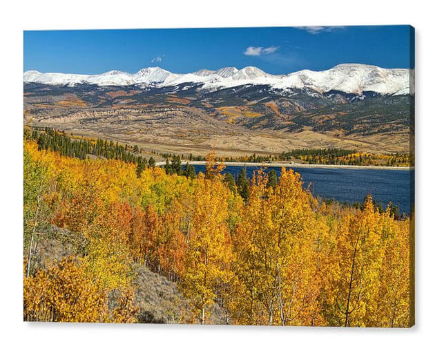 Twin Lakes Colorado Autumn Landscape Canvas Art Print