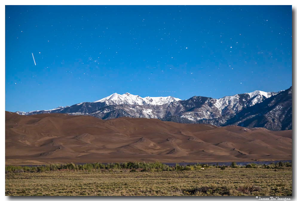 Great Sand Dunes National Park By Moon Light