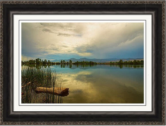 Boulder County Colorado Calm Before The Storm Framed Print