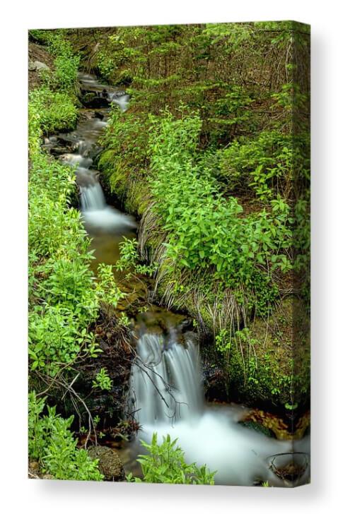 Refreshing Green Wilderness Waterfalls Canvas Print
