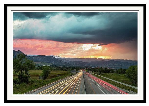 Highway 36 To Beautiful Boulder Colorado Framed Print
