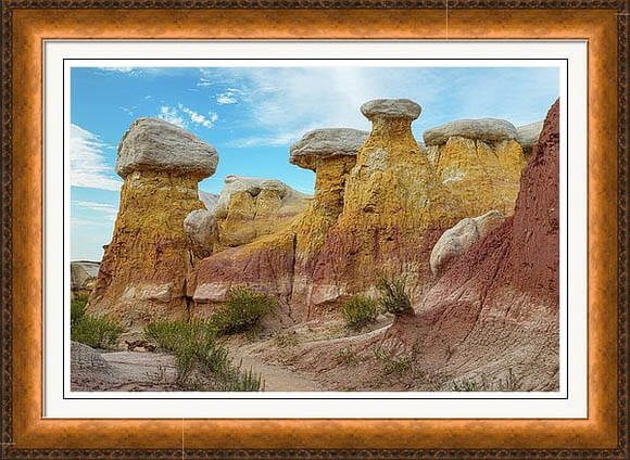 Colorado Paint Mines Formations Framed Print
