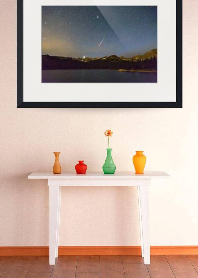 Perseid Meteor Shower Indian Peaks Art Print for sale