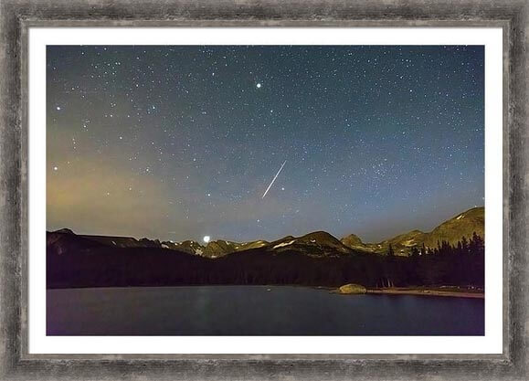 Perseid Meteor Shower Indian Peaks Framed Print