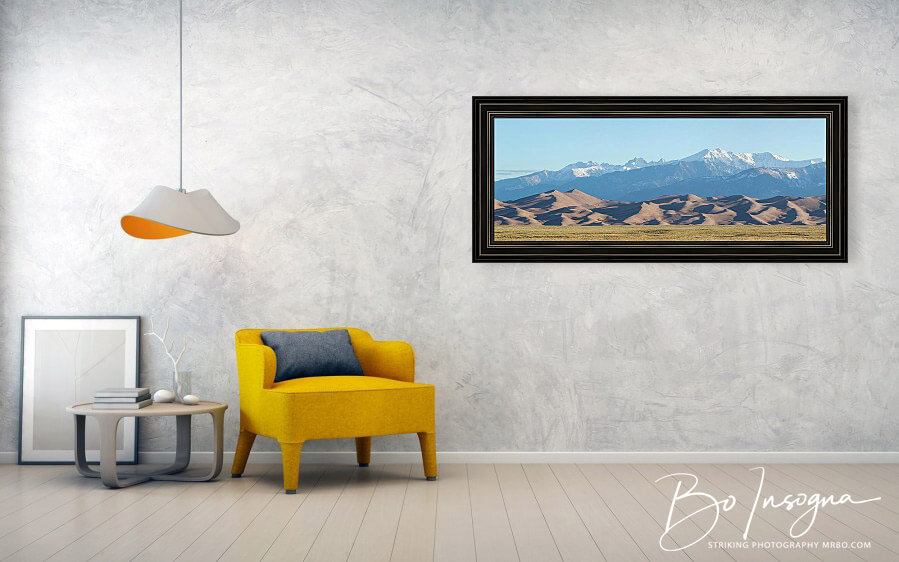 Colorado Great Sand Dunes Panorama Pt 1 Framed Print
