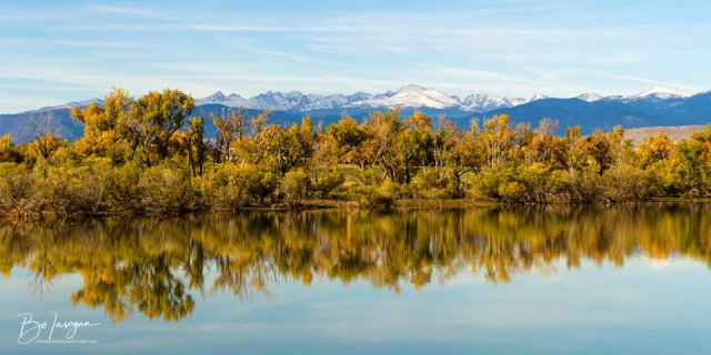 Colorado Continental Divide Autumn Reflections Panorama