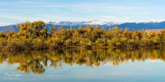 Colorado Continental Divide Autumn Reflections Panorama