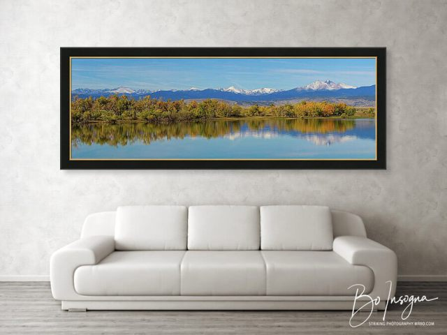 Rocky Mountain Front Range Autumn Panorama Framed Print