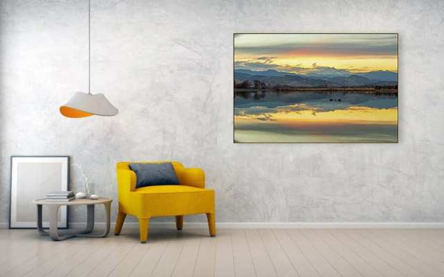 Marvelous Mccall Lake Longs Leak Reflections Canvas Print