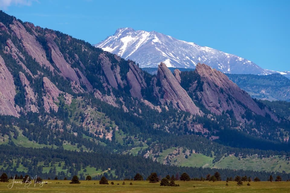 Boulder CO Flatirons And Longs Peak Art Print