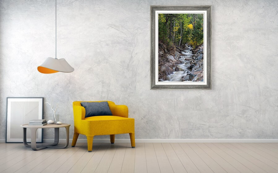 Left Hand Up Stream Framed Print