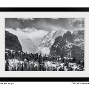 RMNP Gateway To The Rockies BW Framed Print 20x30