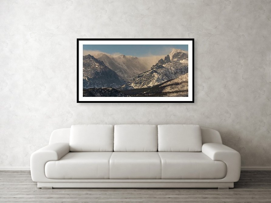 Blowing Snow on the Rocky Mountain Continental Divide Art Print