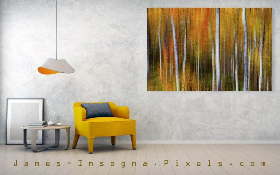 Forest Color Burst Modern Abstract 72x40  canvas  print