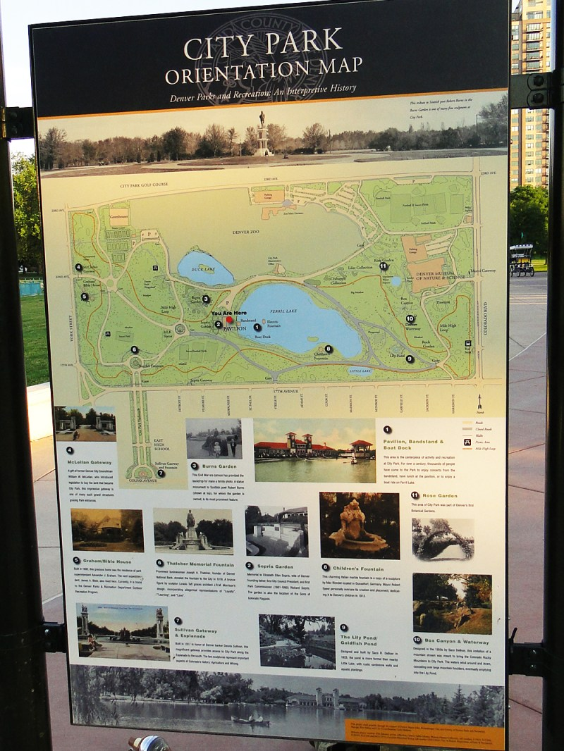 City Park Fishing Map