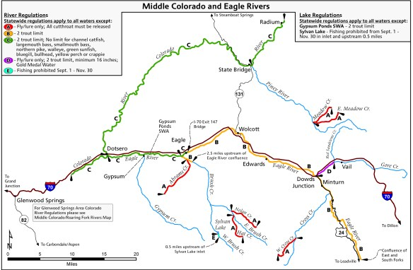 FISH MAP: Colorado River and Eagle River