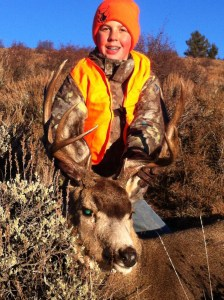 Christian and his prize buck.