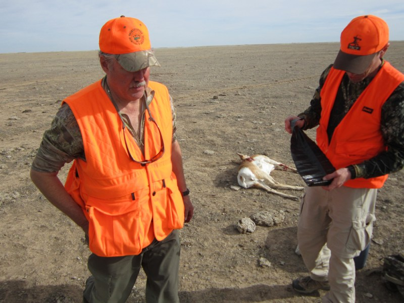 hunters on a late-season pronghorn hunt