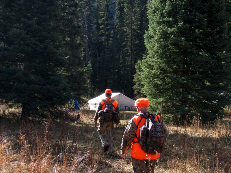 Hunters returning to camp