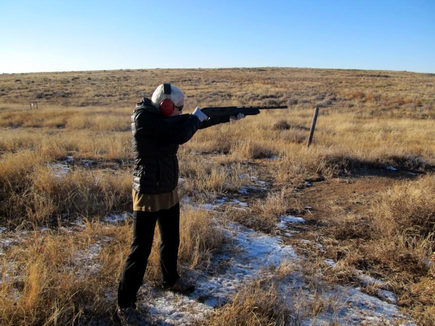 Melinda Miller takes aim at the Comanche National Grasslands. Photo by David Lien.