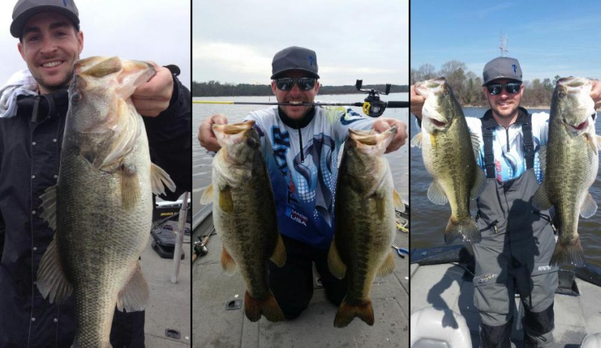 The author displays bass from recent outings.