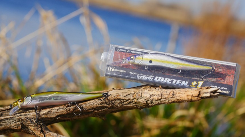 Although pricey, Vision Oneten jerk baits are excellent choices. Their side to side action keeps them in a fish's strike zone. Photo by Jerry Neal/CPW.
