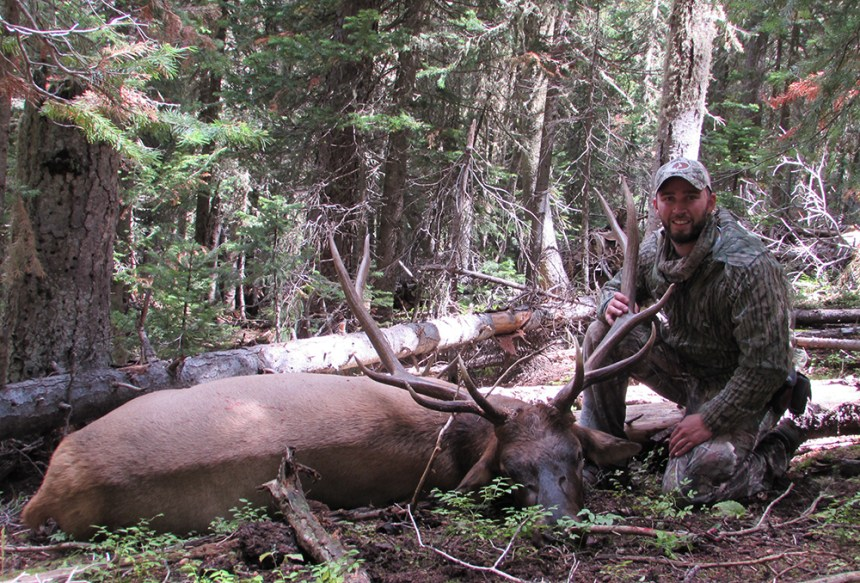 Kevin with Bull Elk
