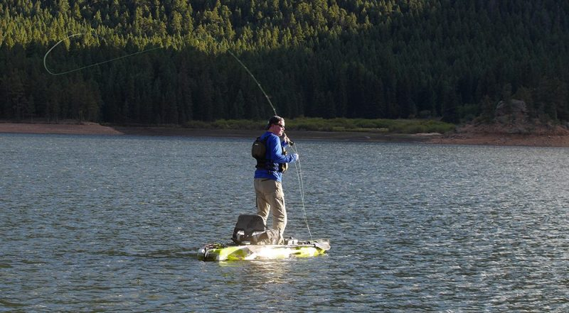 fly fishing from kayak