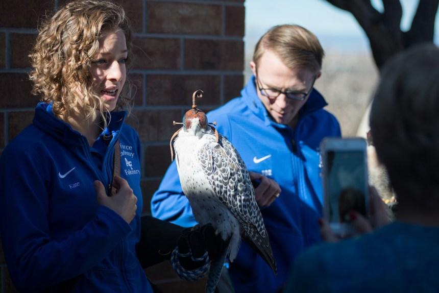 Raptor presentation at Lake Pueblo Eagle Days