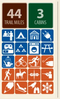 Mueller state park icons