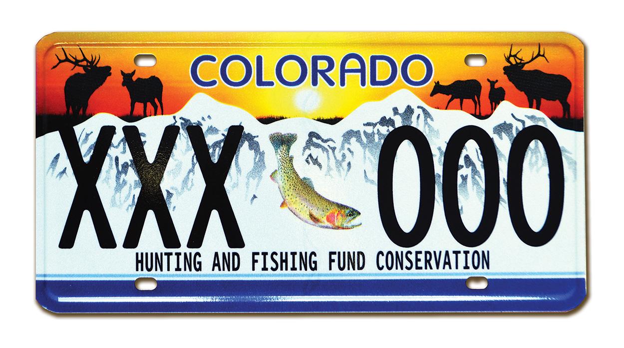 Colorado Wildlife Sporting License Plate