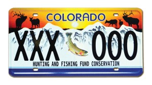 Colorado Wildlife Sporting License Plate