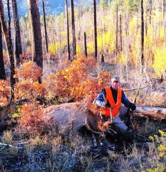 Author with Bull Elk