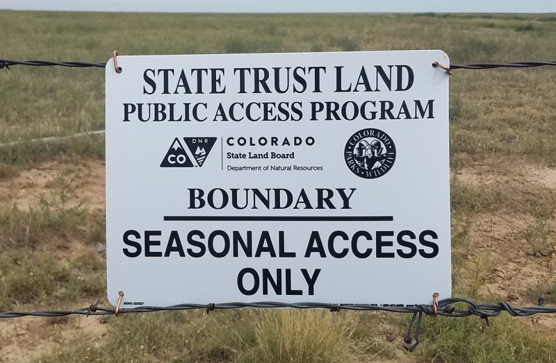 CPW/State Land Board sign