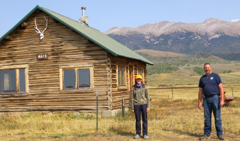 Moose hunting cabin