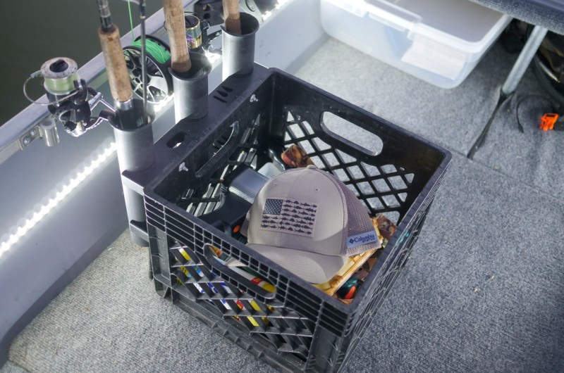 Plastic Milk Crate with rod holders