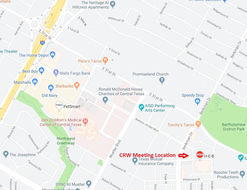 CRW Meeting Location HEB at Mueller